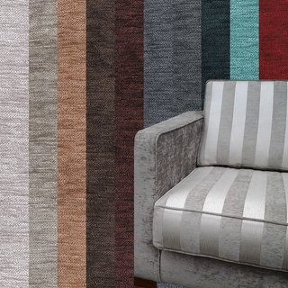DAYTONA STRIPE Decorator Furnishing Upholstery Fabric Patterned Chenille
